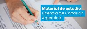 Material de estudio Licencia de Conducir Argentina